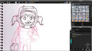 space girl inking
